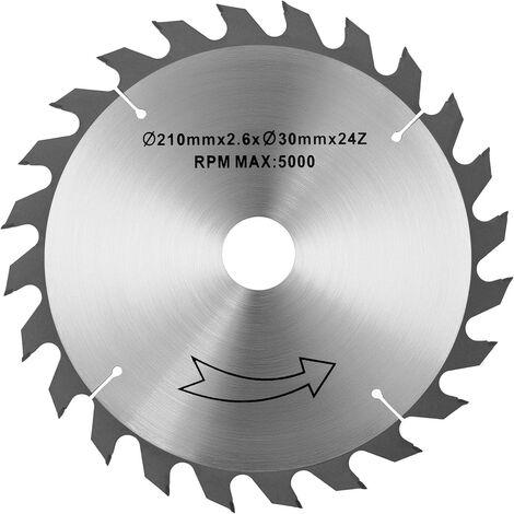Scie de rechange pour scie circulaire Perçage 30mm Ø 210mm 24 dents MSW