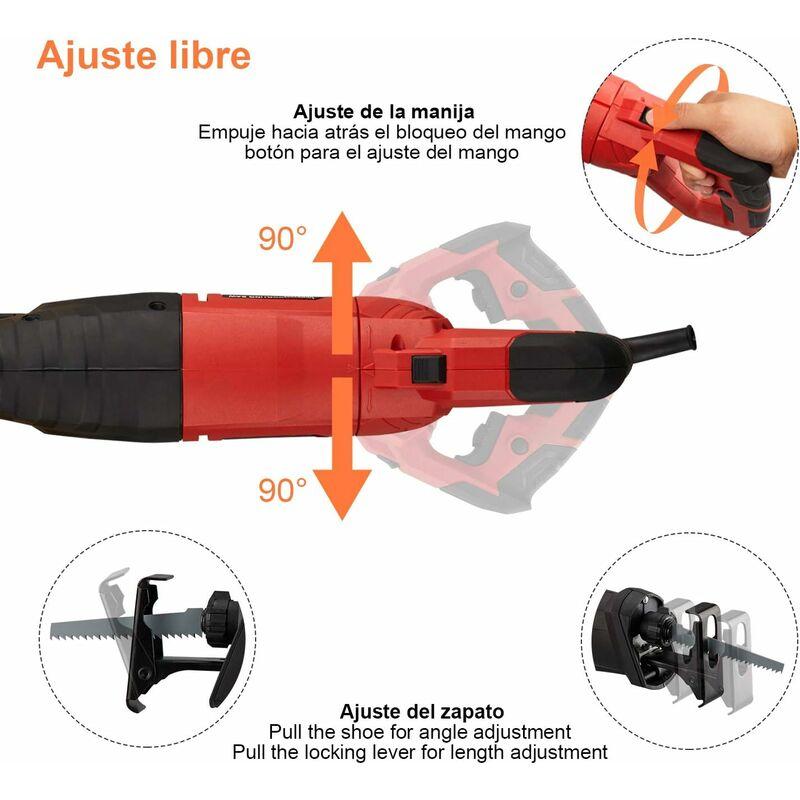 800 W électrique 230 V alternatif puissance Sabre Bois Métal Scie Recip Lames