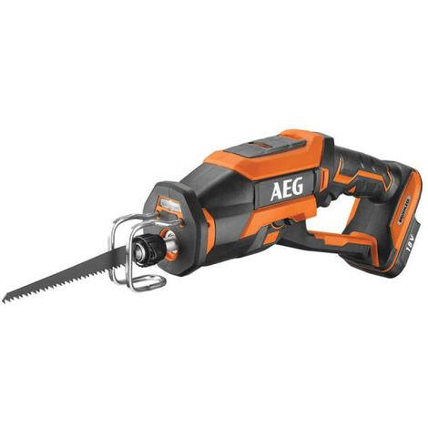 Scie sabre compacte AEG Brushless 18 V - Sans batterie ni chargeur BUS18CBL-0