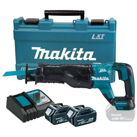 Scie sabre MAKITA 18 V Li-Ion 5 Ah - 2 Batteries, chargeur en coffret - DJR187RTE