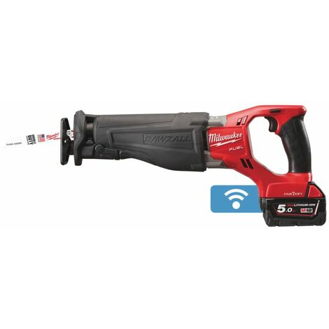 SCIE SABRE MILWAUKEE FUEL ONE KEY 18V 5,0 AH BLUETOOTH LIVRÉE AVEC 2 BATTERIES ET CHARGEUR M18 ONESX-502X - 4933451666 - -