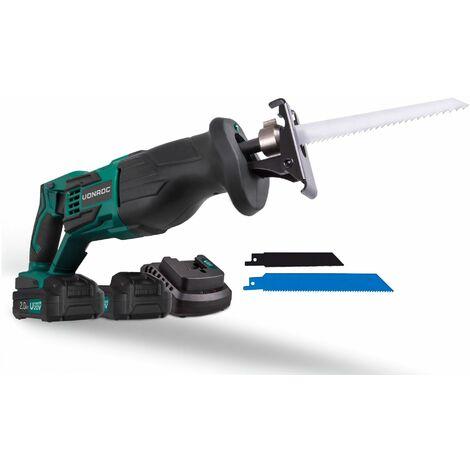 Scie sabre sans fil VPower 20V (sans batterie) – Lames de scie et sac de rangement inclus