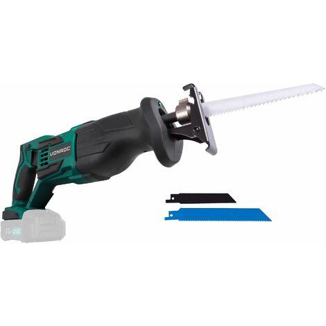Scie sabre sans fil VPower 20V. Sans batterie, ni chargeur – Lames de scie et un sac de rangement pratique inclus