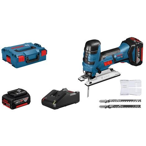 Scie sauteuse 18V 2 batteries 4.0Ah + chargeur + L-Boxx GST 18 V-LI S BOSCH - 06015A5107