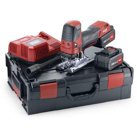 Scie sauteuse 18V JS 18.0-EC/5.0 Set FLEX - 2 batteries + chargeur + coffret + accessoires - 489778