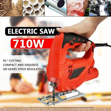 Scie sauteuse électrique professionnelle avec 10 lames Accueil Outils multifonctionnels pour le travail du bois Scie courbe Scies à tirer 220v 780W 0-3000r / min
