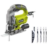 Scie sauteuse électrique RYOBI 500W 75mm bois - 5 lames RJS750A5