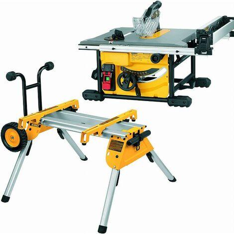 Scie sur table 1850W210 mm DEWALT - avec piètement - DWE7485RS-QS