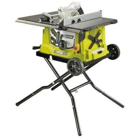 Scie sur table électrique RYOBI 1800W 254mm - piètement rétractable - roues - extension - RTS1800EF-G
