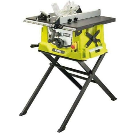 Scie sur table électrique RYOBI 1800W 254mm - piètement rétractable - RTS1800S-G
