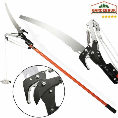 Scie téléscopique coupe-branches avec câble traction arbre scie jardinage