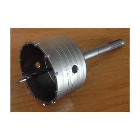 Scie trépan carbure + arbre sds max + foret de centrage existe en diamètre 30 à 150mm 90mm