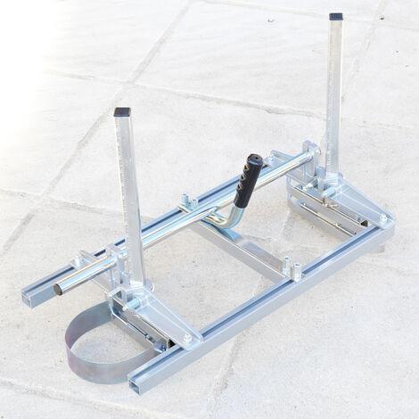 Scierie mobile gruminette pour tronçonneuse avec guide de 24 pouces