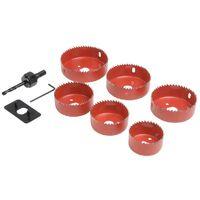 Scies-cloches pour installation luminaire, 9 pcs ø 50 - 86 mm