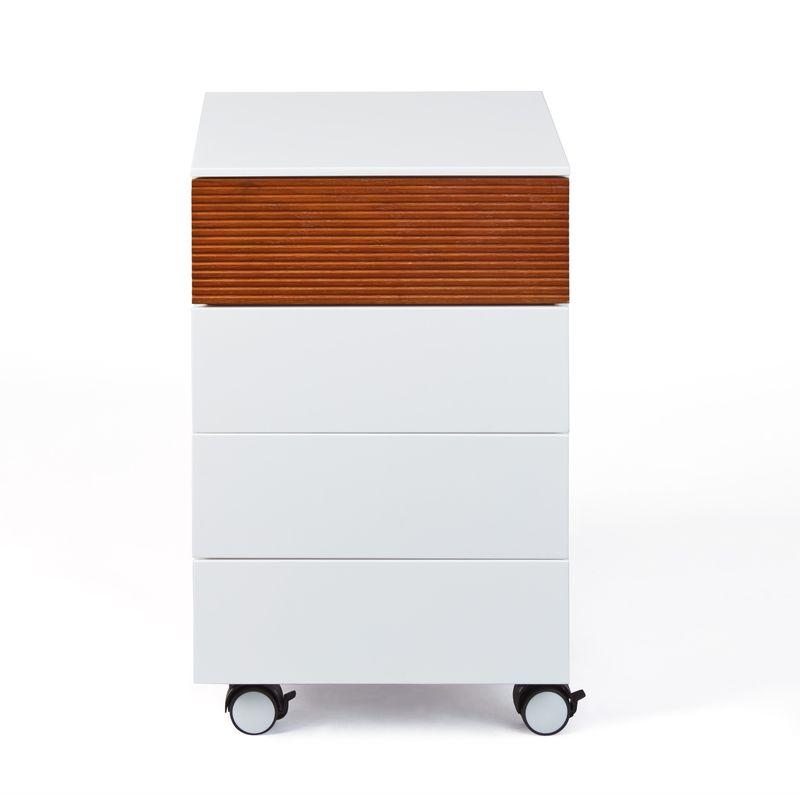 Scime Kommode Rollcontainer, 4 Schubladen, weiss. 19-20340102 - PKLINE