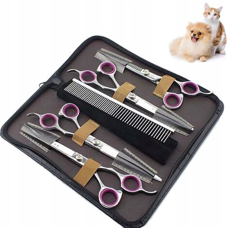 Scissors for dog care supplies and cats set of 7 inch animal grooming scissors