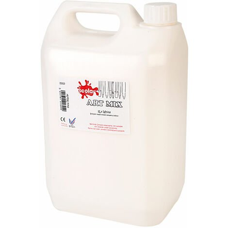 Scola AM5LT/43 Artmix Paint 5 Litre White