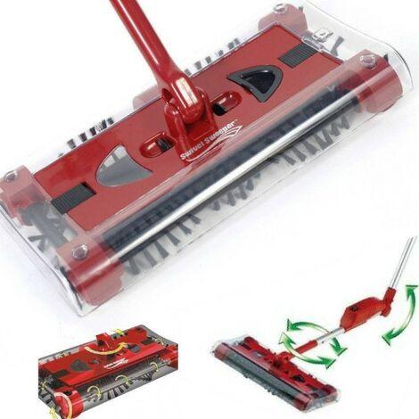 Batteria Scopa Ruotante Swivel Sweeper.Scopa Elettrica Rotante Aspirapolvere Manico Ruotante Swivel