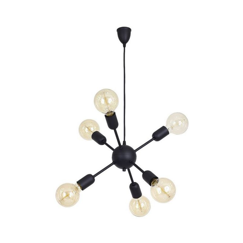 Homemania - Scorpius Black Haengelampe - Kronleuchter - Deckenkronleuchter - Schwarz aus Metall, 44 x 44 x 80 cm, 6 x E27, 60W