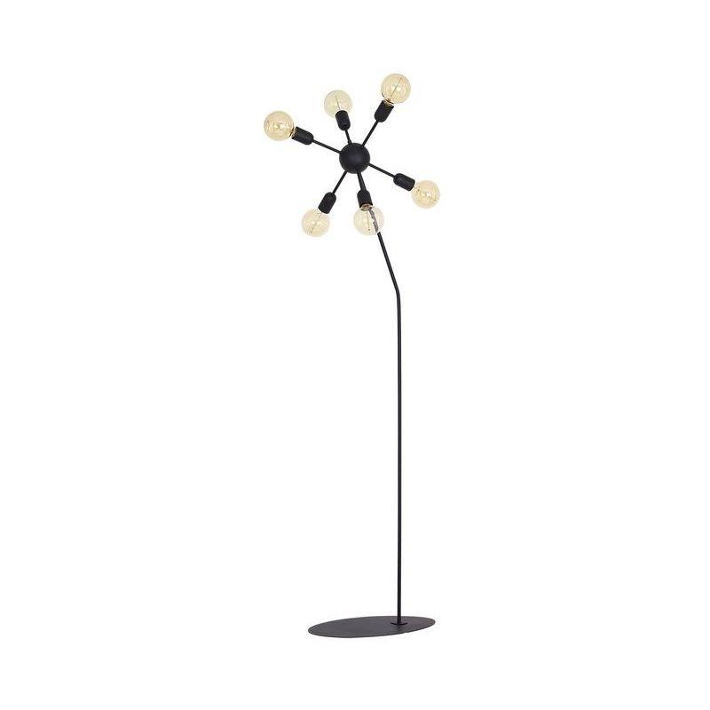 Scorpius Black Stehleuchte - Etage - Wohnzimmer, Etage - Schwarz aus Metall, 36 x 30 x 170 cm, 6 x E27, 60W - HOMEMANIA