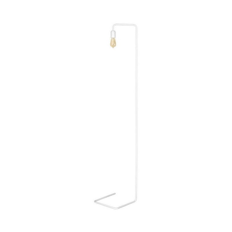 Scorpius White Stehleuchte - Etage - Wohnzimmer, Etage - Weiss aus Metall, 31 x 30 x 160 cm, 1 x E27, 60W
