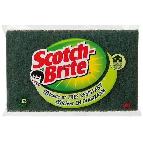 SCOTCH BRITE - Lot de 3 tampons grattants Classics - vert