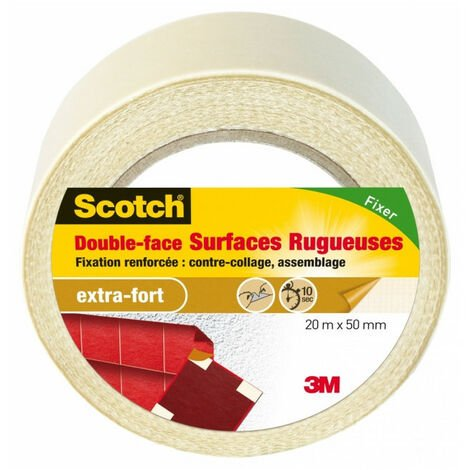 Scotch double face surface rugueuses 20mx50mm