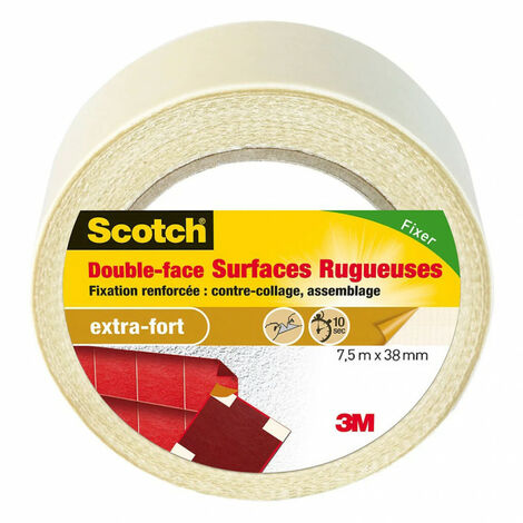 Scotch double face surface rugueuses 7,5mx38mm