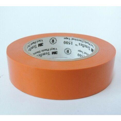 Scotch isolant électrique rouleau de 10m x 15mm orange adhesif Temflex 1500 3M 80467