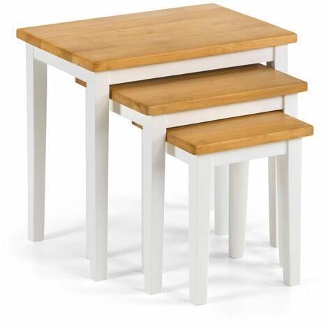 Scotch Nest Of Tables White / Oak