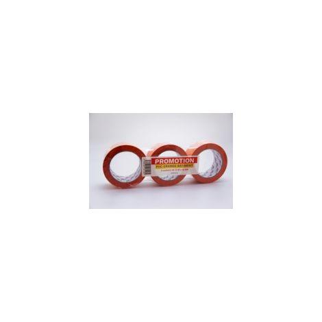 Scotch PVC orange par 3 - qualité standard largeur 48 mm longueur 33 m - LIMA - Gripeur