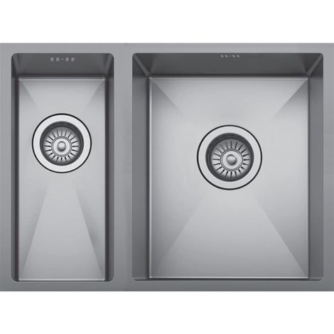 Scott & James - Premium 1.5 Bowl Undermount Sink 1.2mm Stainless Steel - Stainless Steel