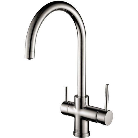 Scott & James - Side Lever Filter mixer tap in Brushed Steel
