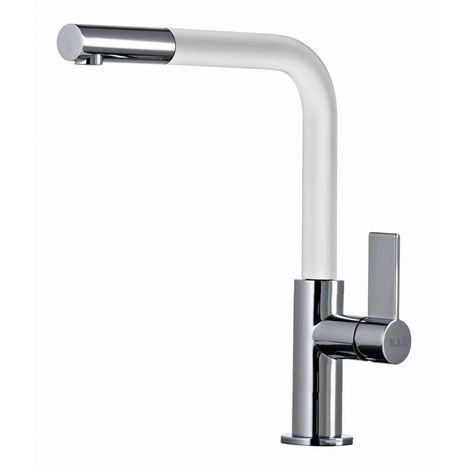 Scott & James - Single Lever Pull Out Kitchen Tap in White
