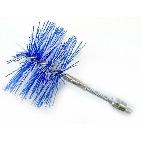 Scovolo D.080 mm. ainsi que le nylon articulé pour en acier inoxydable carneaux, poêle à granulés, cheminée, chaudière.