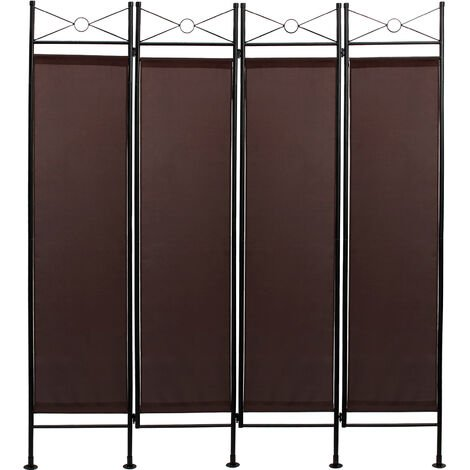 Screen Wall , Room Divider, 180 x 160 cm (70.9 x 63 inch), Brown, Panel : 100% Polyester
