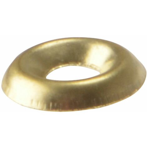 Screw Cup Washers, Polished Brass