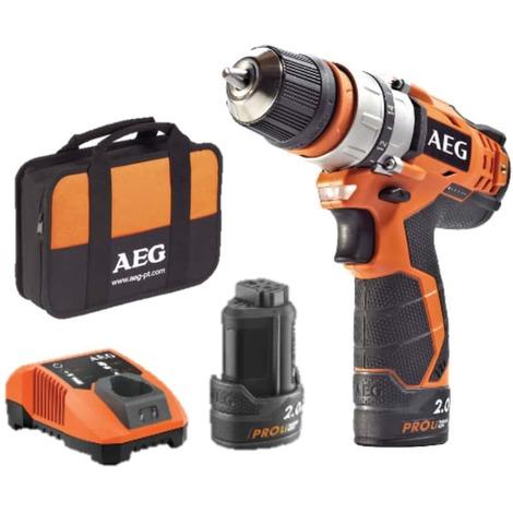 Screw drill AEG 12V - 2 batteries 2.0Ah - 1 charger BBS12C2-202BKIT1
