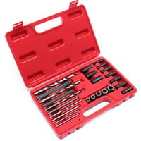 Screw Extractor Drill and Guide Set Broken Screws Bolts Fasteners Remover 25pcs