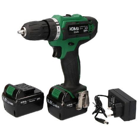 Screwdriver KOMA 14,4V - 2 batteries 1.5Ah - 1 charger 08703