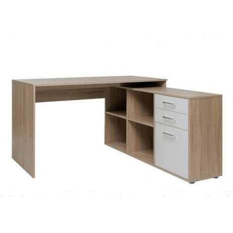 Scrivania angolare scrivania ad angolo pc ufficio con libreria e 4 ...