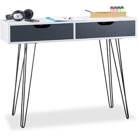 Scrivania Bianca Con Cassettiera.Scrivania Con Cassetti Design Moderno Per La Cameretta Hxlxp 76 X 100 X 40 Cm Bianca