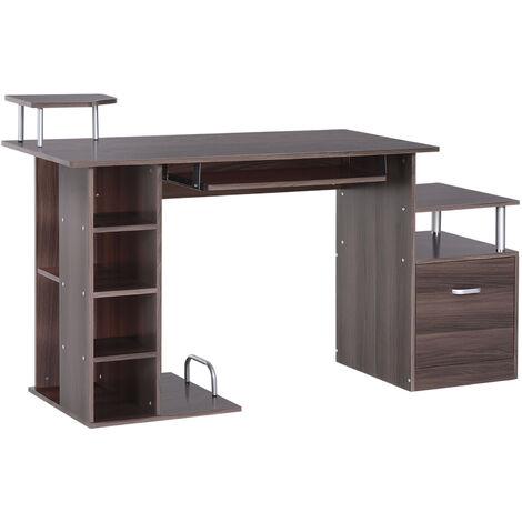 120 x 60 x 74 c tavolo da pranzo in legno di noce moderna grande scrivania Design elegante tavolo da pranzo Tavolo da pranzo facile da installare Tavolo del computer portatile Scrivania del computer