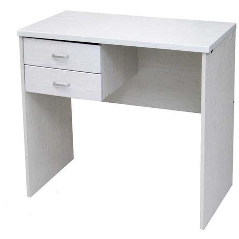 Scrivania legno 2 cassetti 120 cm  rovere gambe in metallo studio ufficio 96260