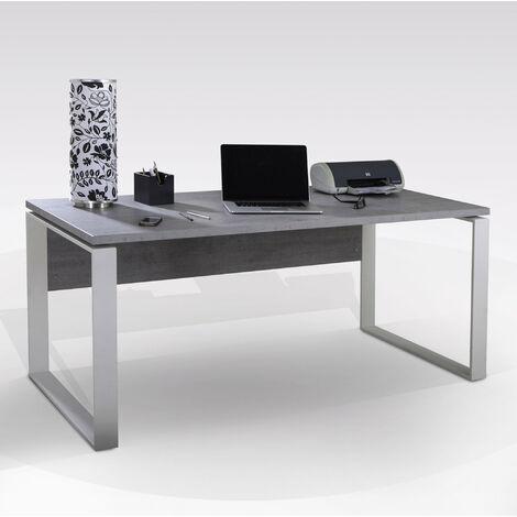 vidaXL Scrivania Ufficio Elegante Compatta Scrittoio Tavolo Lavoro Mobile Porta PC in MDF Gambe in Acciaio Verniciato Marrone 90x50x79 cm