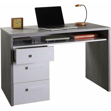 Scrivania Pc Moderna.Scrivania Moderna Pc Ufficio Con 3 Cassetti Ed 1 Vano Aperto Per La 110x74x60cm