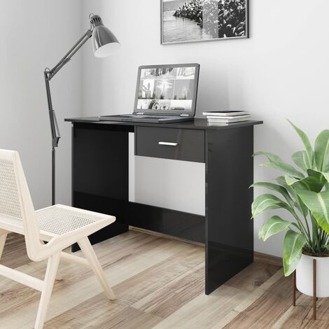 Postazione per PC Truciolato Legno Cameretta /& Ufficio Marrone//Nero Relaxdays Scrivania Compatta /& Salvaspazio Metallo HLP: 76 x 90 x 53 cm