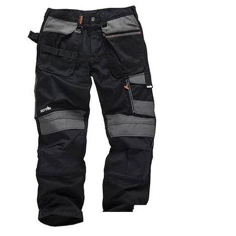 Scruffs 3D Trade Trousers Hardwearing Black (Various Sizes) Men's Work