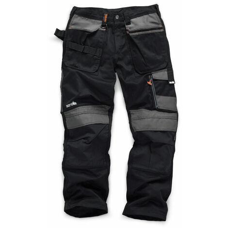 Scruffs 3D Trade Trousers Hardwearing Black (Various Sizes) Men's Work