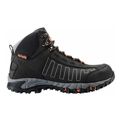 Scruffs CHEVIOT Safety Waterproof Hiker Boots Black (Sizes 7-12) Men's Steel Toe